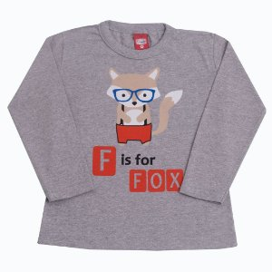 Camiseta Menino Fox Mescla