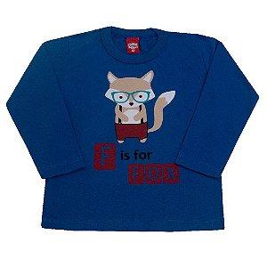 Camiseta Menino Fox Azul