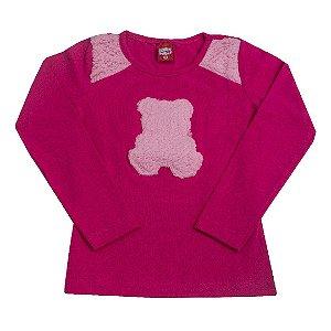Blusa Urso Pink