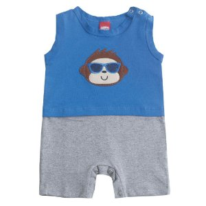Macaquinho Baby Macaco Azul