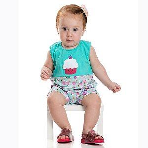 Macaquinho Baby CupCake Verde