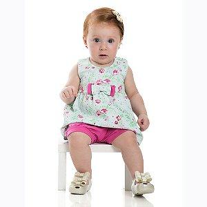 Conjunto Baby Estampado Floral Pink