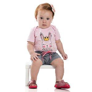 Conjunto Baby Princess Rosa Bebê