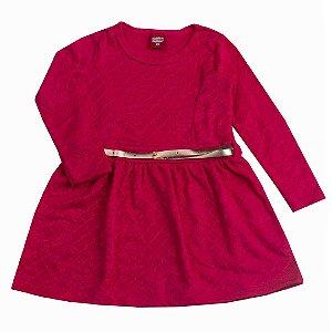 Vestido com Cinto Pink