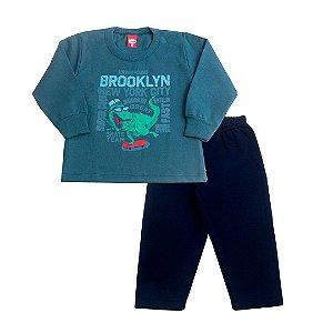 Conjunto Moletom Dino Skate Verde