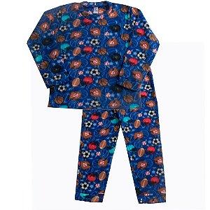 Pijama Soft Esportes Azul