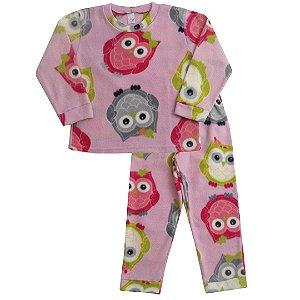 Pijama Soft Coruja Rosa