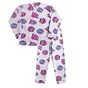 Pijama Soft Coruja Off