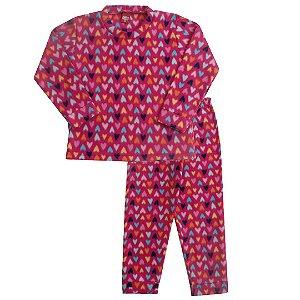Pijama Soft Coração Pink
