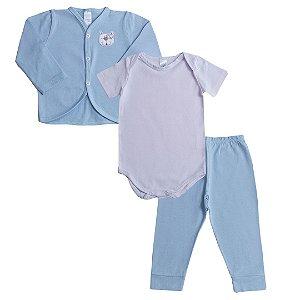 Tri Conjunto Baby Cahorrinho Azul