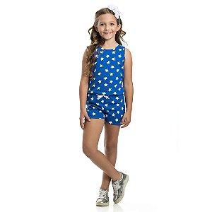 Macaquinho Infantil Estrelas Azul