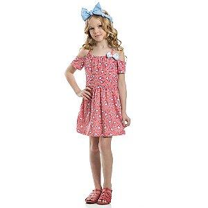 Vestido Infantil Unicórnio Coral