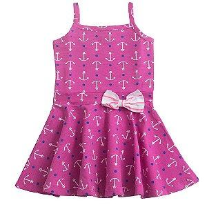 Vestido Infantil Escama de Sereia Rosa