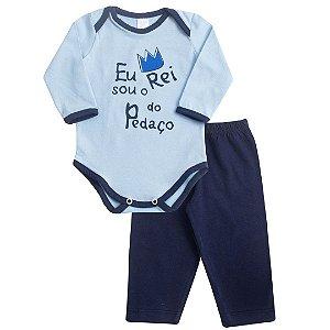 Body Baby Frase Azul
