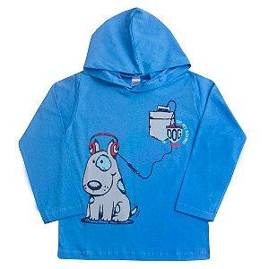 Camiseta Azul Manga Longa Dog