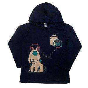 Camiseta Marinho Manga Longa Dog