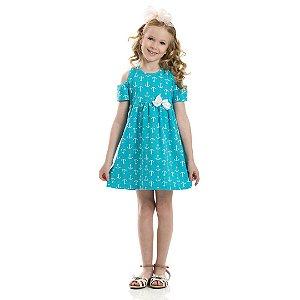 Vestido Infantil Ancora Verde