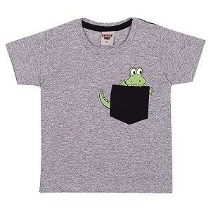 Camiseta Dino com bolso Mescla