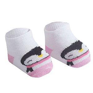 Par Meia Recém Nascido Pinguim Menina