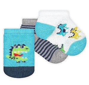 Kit com 3 meias Recém Nascido Menino