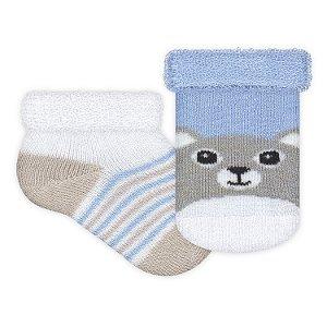 Kit com 2 meias Recém Nascido Menino