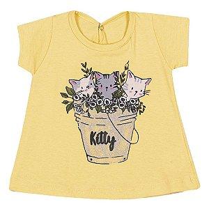 Blusa Kitty Amarelo