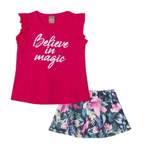 Conjunto Blusa Believe com Shorts