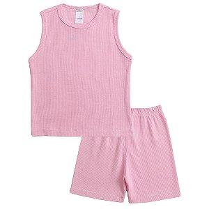 Conjunto Pijama Regata Rosa
