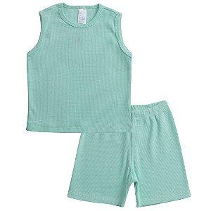 Conjunto Pijama Regata Verde