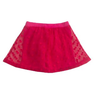 Shorts Saia Tule Poá Pink