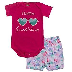 Conjunto Body Hello Sunshine Pink