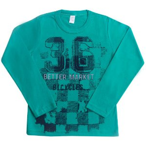 Camisa Manga Longa Better Market Verde