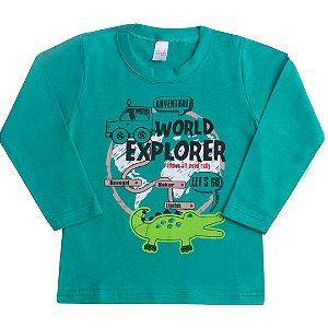 Camisa Manga Longa World Explorer Verde