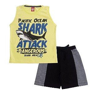 Conjunto Regata Shark Attack Amarela