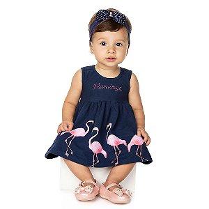 Vestido Flamingo Marinho