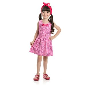 Vestido Sereia Escama Rosa