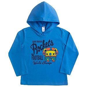 Camiseta Manga Longa Rockets Azul
