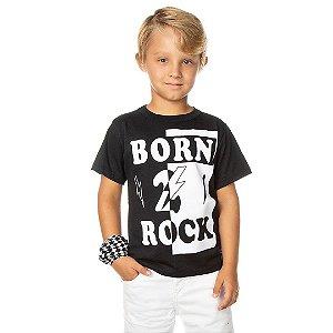 Camiseta Born to Rock Preto