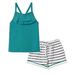 Conjunto Blusa e Shorts Pompom