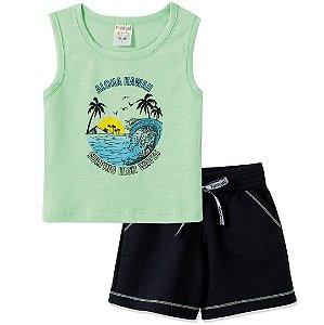 Conjunto Aloha Hawaii Verde