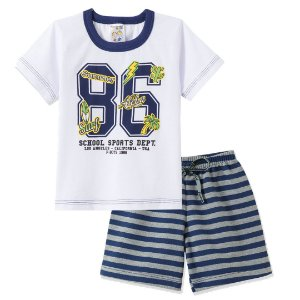 Conjunto School Sports Branco