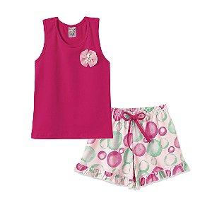Conjunto Regata Bolhas Pink