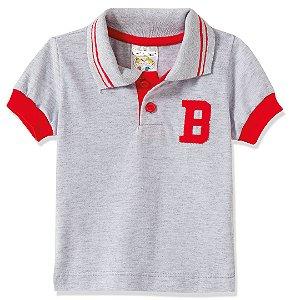 Camiseta Gola Pólo Vermelho