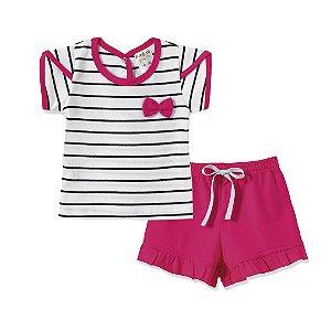 Conjunto Blusa e Shorts Pink