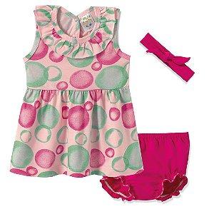 Conjunto Vestido e Calcinha Pink