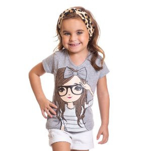 Blusa Little Girl Mescla