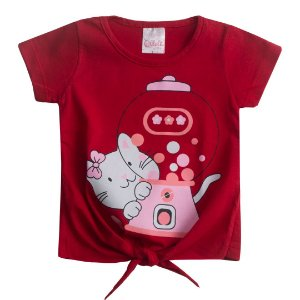 Blusa Kitty Vermelho