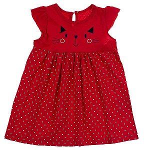 Vestido Baby Gatinho Vermelho
