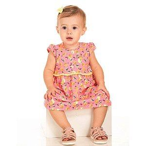 Vestido Baby Limãozinho Rosa