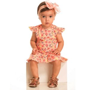Vestido Body Baby Limão Coral
